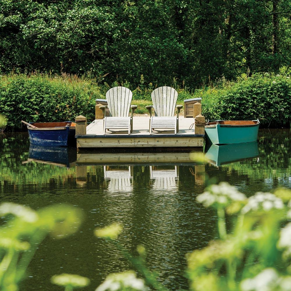 Boating Lakes at Longlands Glamping