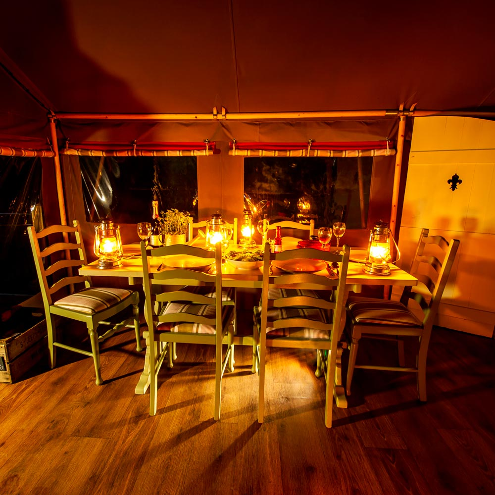 Enjoy Candlelit Dinners at Longlands Glamping