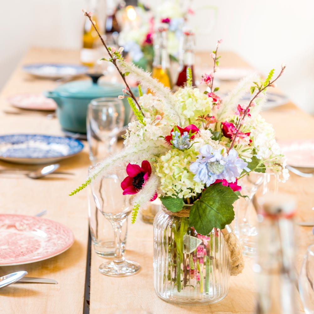Group glamping and dinner parties at longlands