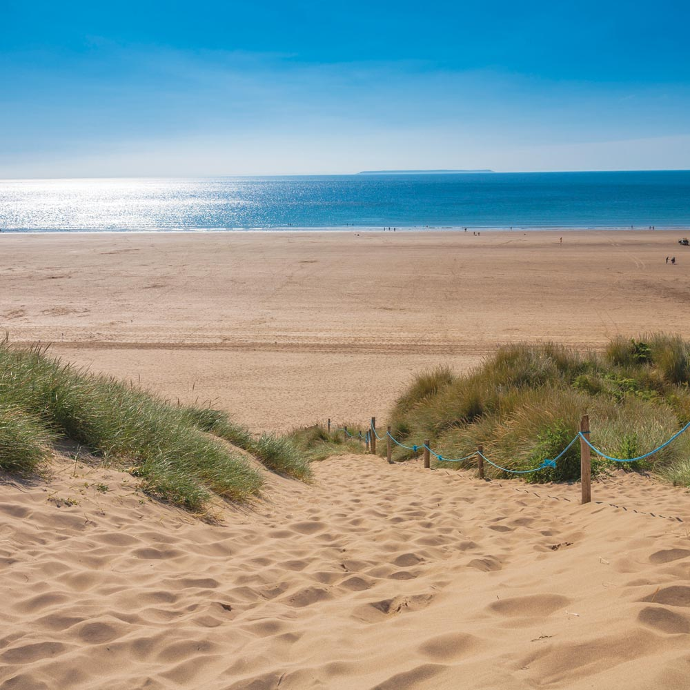 Enjoy the many beaches near Longlands Glamping