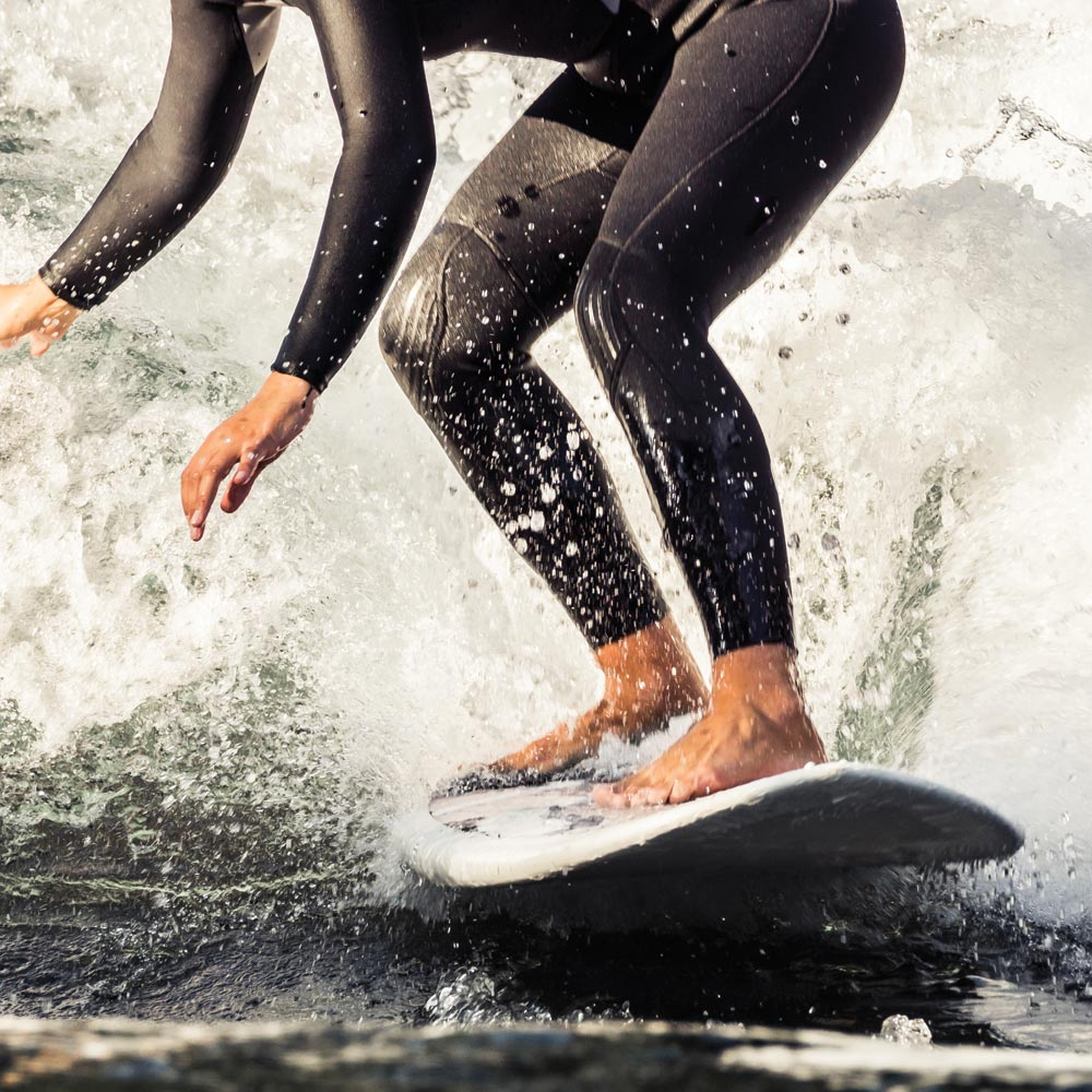 Go surfing on Woolacombe beach, close to Longlands glamping