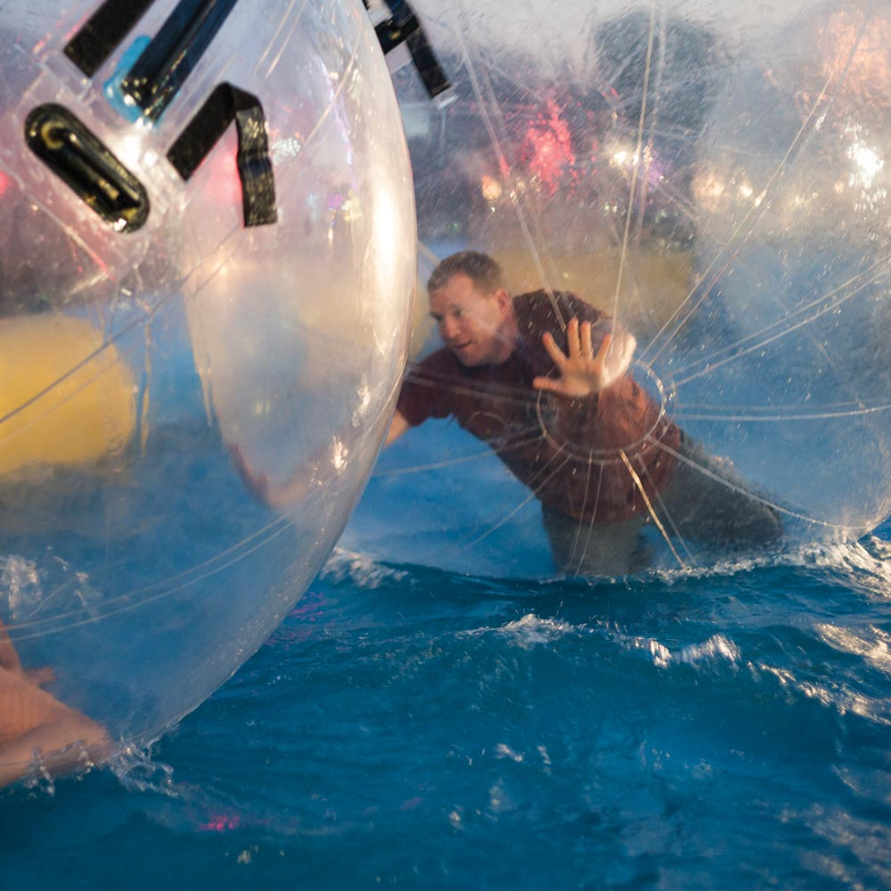Go Water Zorbing, a short drive from Longlands
