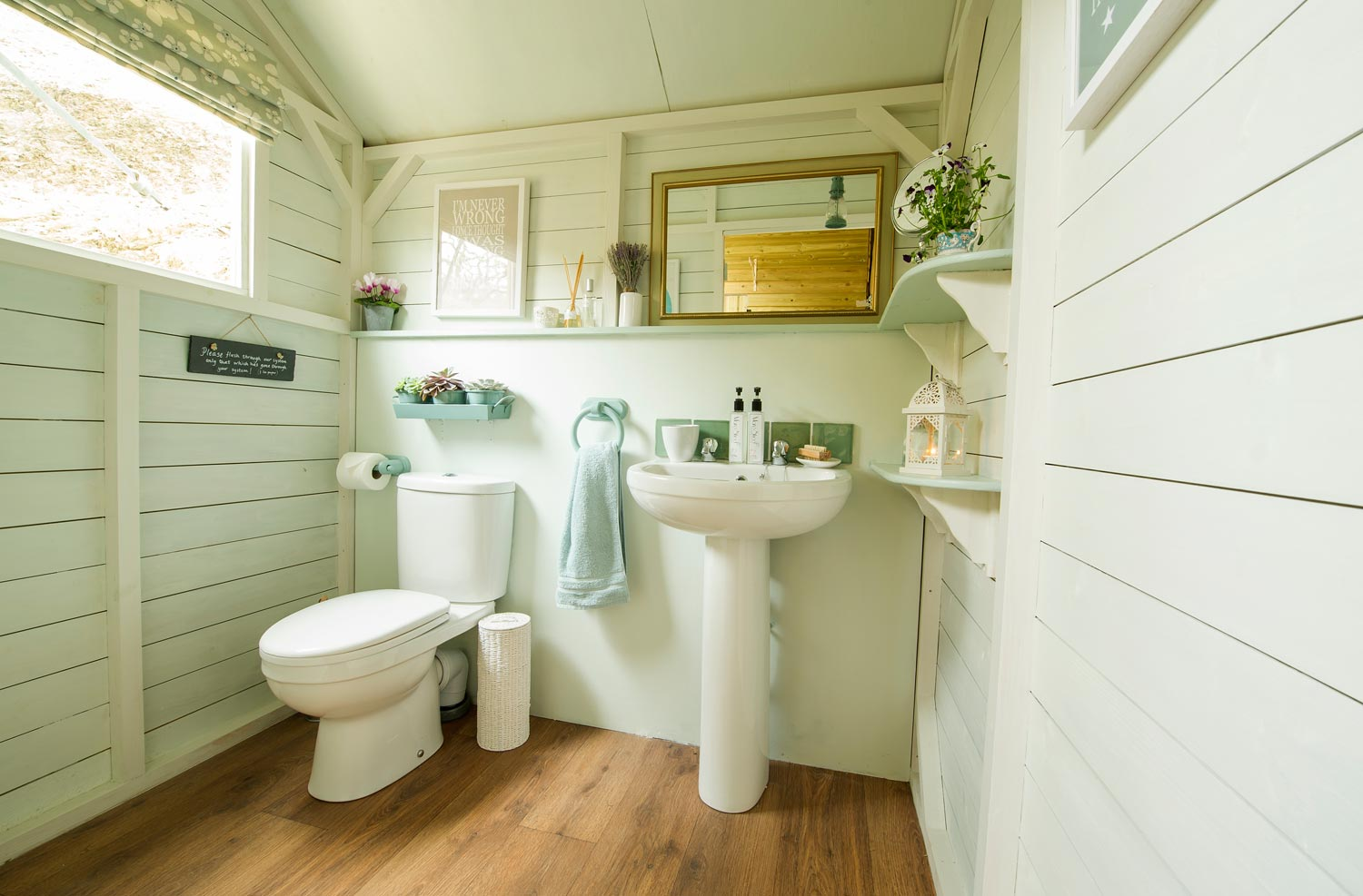 Clean and Cosy Bathrooms at Longlands Glamping