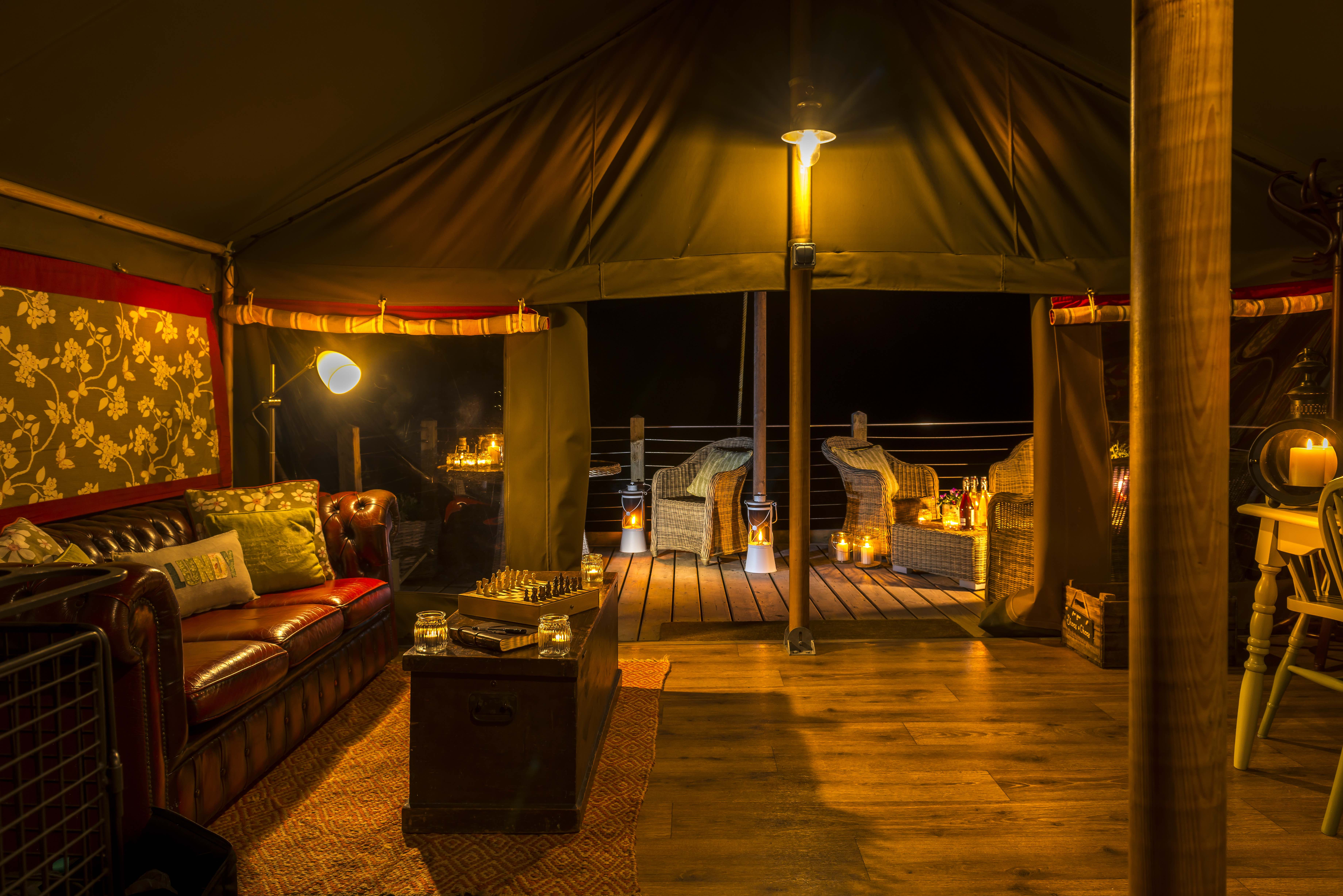 Luxury glamping lodges at Longlands Glamping