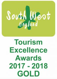 South West England Tourism Excellence Award 2017-18 Gold
