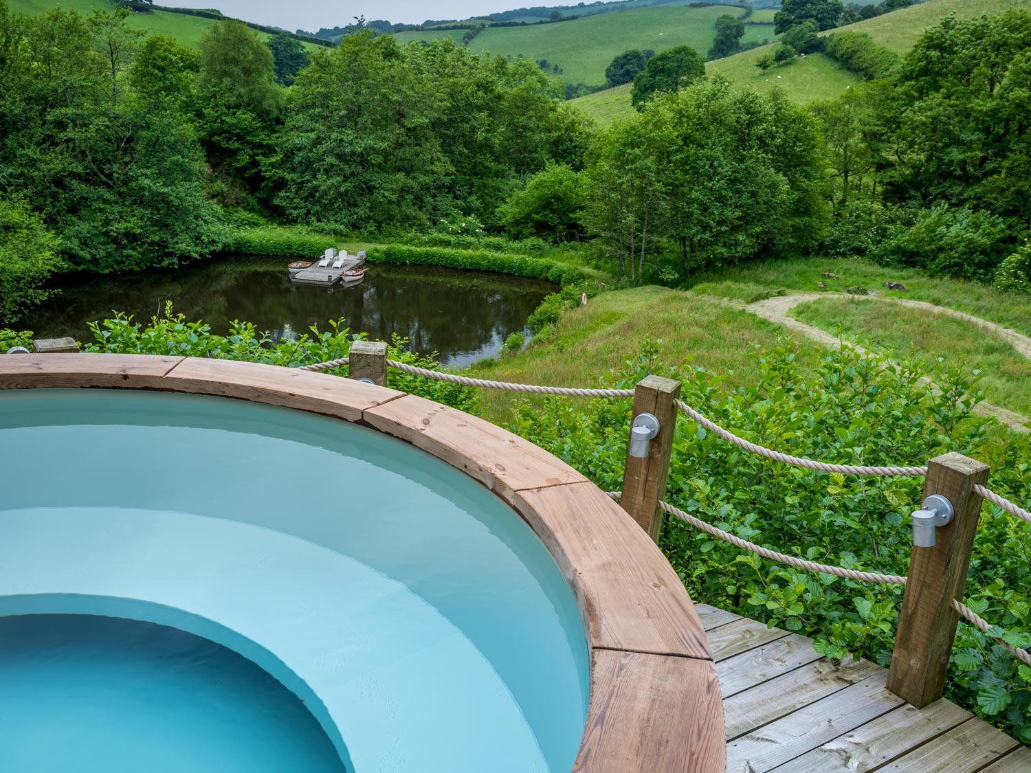Views from Longlands Luxury Glamping hot tub