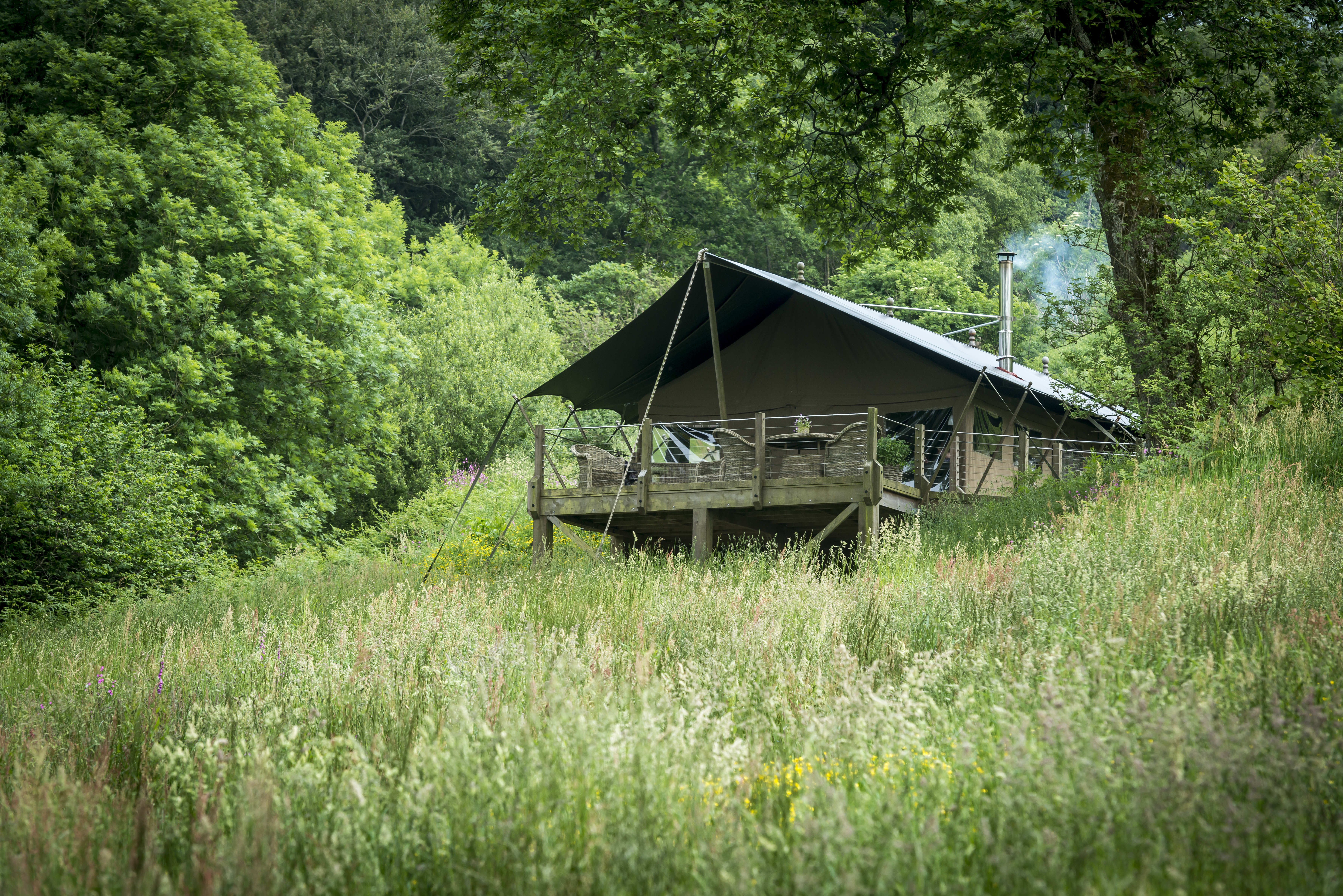 Longlands award winning luxury glamping for family, couples or friends.