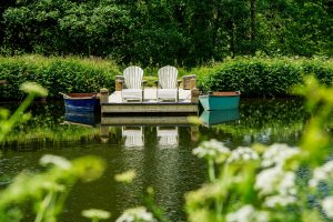 Idyllic Boating Lake at Longlands Glamping Devon