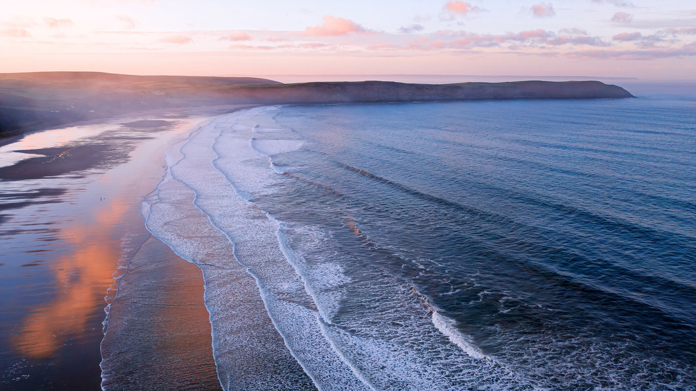 Sunset at Woolacombe Beach in North Devon